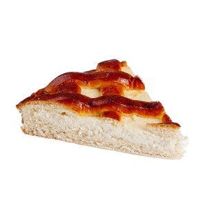 кусок пирога с творогом